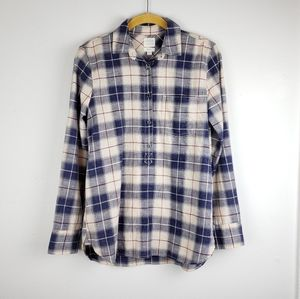 J. Crew Homespun Popover Boy Fit Shirt Top
